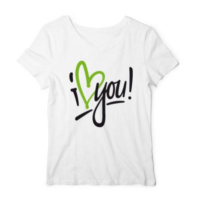 "Girly-Shirt ""I Love You"""