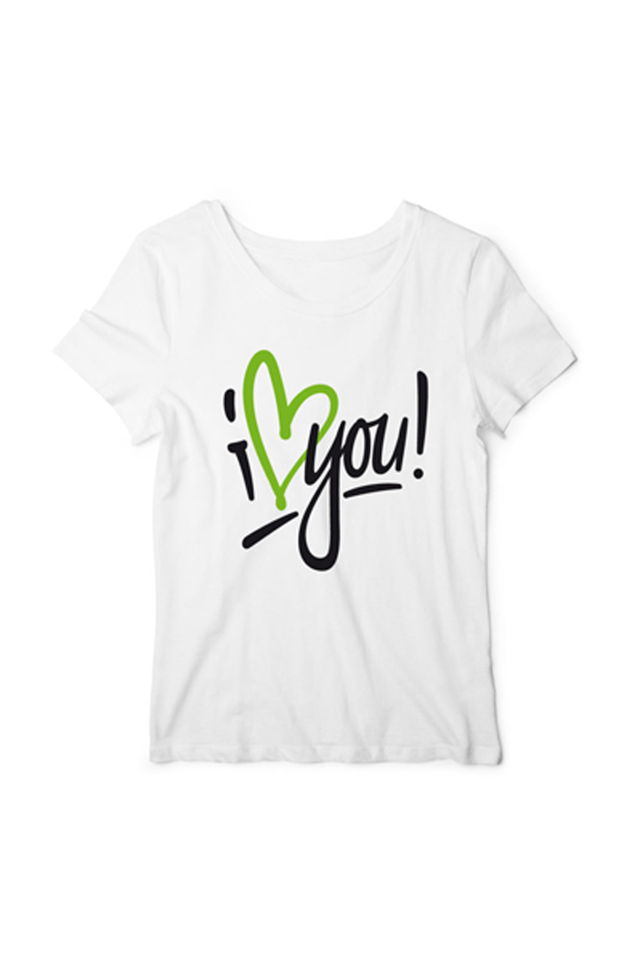 "Girly-Shirt ""I Love You"""
